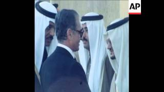 SYND 11 1 78 SHAH OF IRAN MEETS KING KHALED