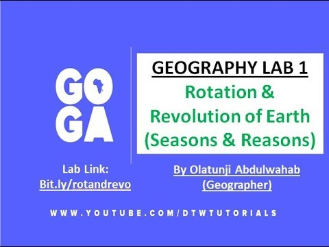 Geography Lab:Rotation and Revolution of Earth(Seasons and Reasons)