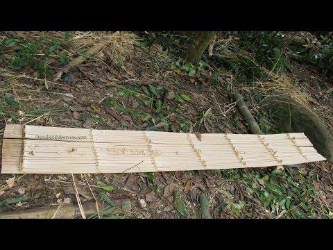 How to make a bamboo panel, Dayak Bidayuh Sarawak Borneo