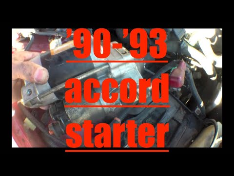 CLICKING Starter motor Replacement Honda Accord √