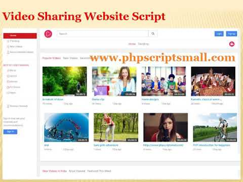 The best Video Sharing Website Script