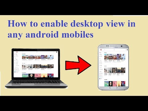 how to enable desktop mode in android