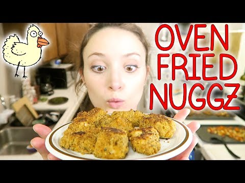 Easy Oven Fried Chicken Nuggets Recipe!