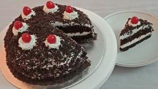 ഓവനും വേണ്ട ബീറ്ററും വേണ്ട ബ്ളാക്ക് ഫോറസ്റ്റ് കേക്ക് വീട്ടില് തന്നെ ഉണ്ടാക്കാം/BLACK FOREST CAKE