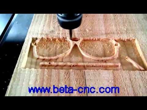 Beta cnc wood glasses carving machine