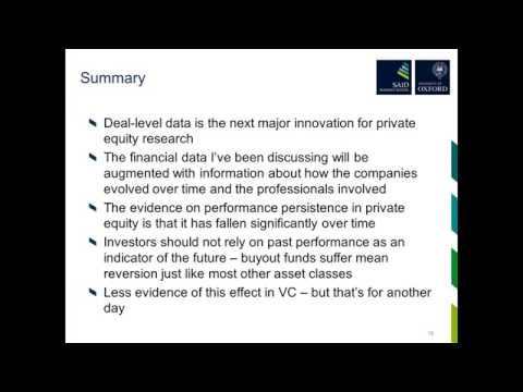 Webinar:Private Equity – looking inside the box