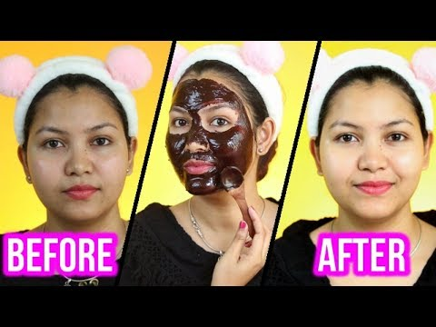 INSTANT Skin Brightening Chocolate Facial At Home / Naturally Glowing, Bright Skin