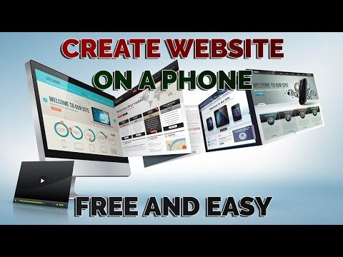 How to Make your own website for free on a Phone