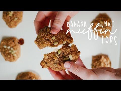 BANANA NUT MUFFIN TOPS//Grain Free + Vegan