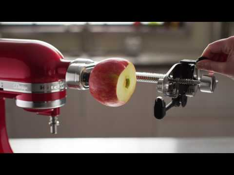 How To: Use the Spiralizer Plus with Peel, Core and Slice Attachment | KitchenAid