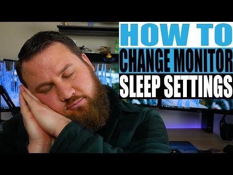 How to Change Your Monitor's Sleep Mode Setting
