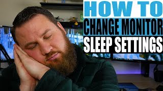 How to Change Your Monitor's Sleep Mode Setting
