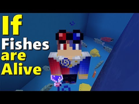 How to Spawn 3D Fishes in Minecraft Pocket Edition (Fishes Addon)