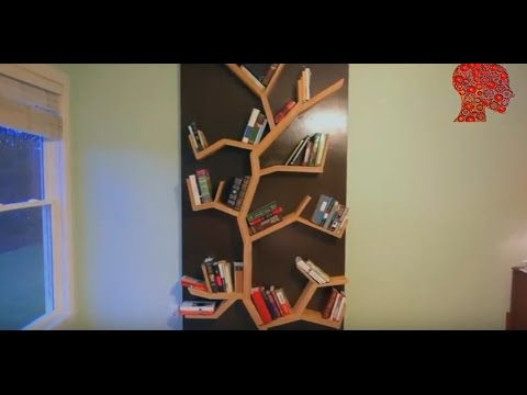 Woodworking # 3 - DIY How To Make A Tree Bookshelf - WoodWork