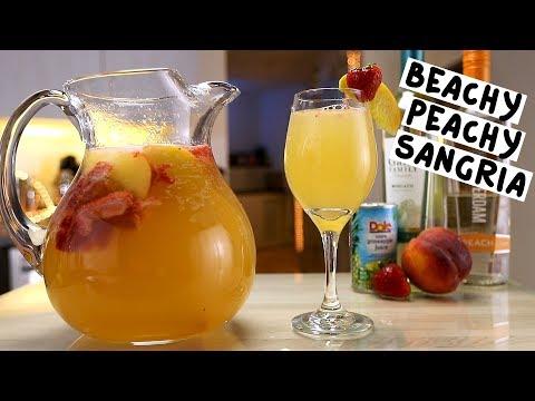 Beachy Peachy Sangria - Tipsy Bartender