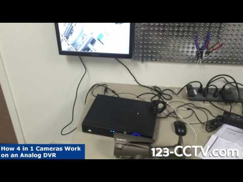 how to switch 4in1 cameras using analog DVR