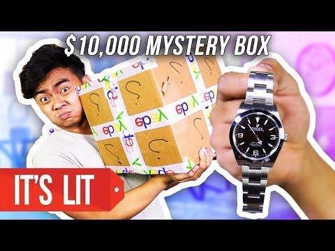 What's Inside a $10,000 Ebay Mystery Box?! (ROLEX WATCH)