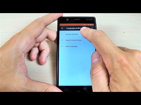 NOKIA 3, 5, 6 (2017) - How to Change Language Settings