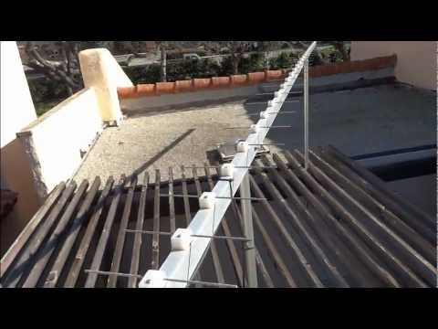 20 foot long homemade yagi TV antenna