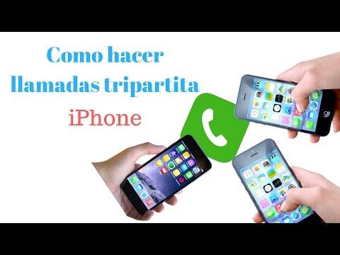 Cómo realizar llamadas tripartita en iPhone
