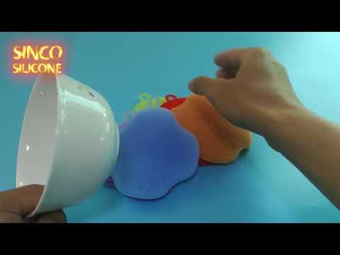 silicone dishwashing sponge scrubber / silicone dishwasher safe