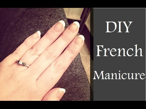Easy DIY French Manicure Tutorial! ♡