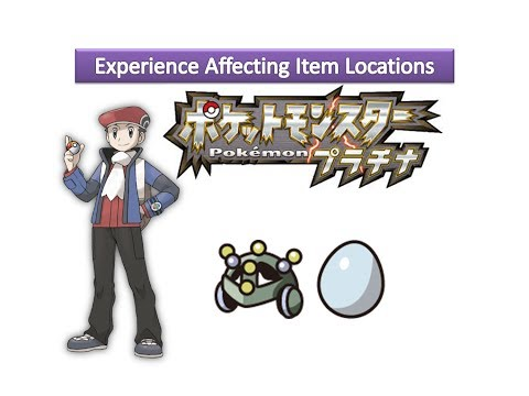 Pokemon Platinum - Experience Affecting Item Locations