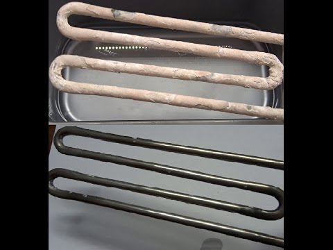 Cleaning the heating element with vinegar