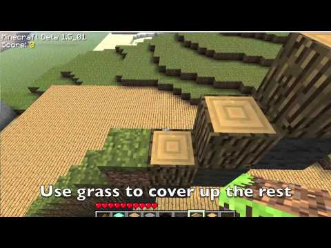 Minecraft Giant Pickaxe tutorial HD