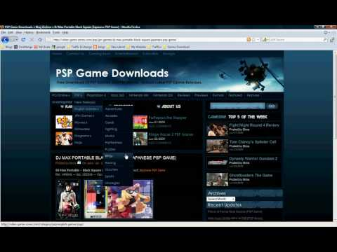 How to Download Free PSP Games, PSP Movies, & PC Games!!!