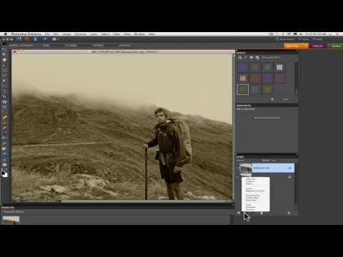 Photoshop Elements Tutorials- Sepia Tone