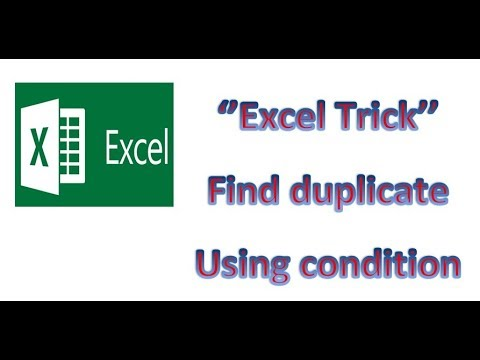 How to find/match duplicates in Excel | Find same text or value in different cell