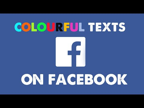 How to write colourful letters on facebook