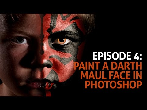 Episode 4: Paint A Darth Maul Face In Photoshop