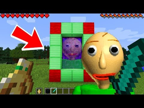 HOW TO MAKE A PORTAL TO THE SCARY BALDI DIMENSION - MINECRAFT BALDI'S BASIC EDUCATION & LEARNING