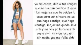 Becky G - Sola (lyrics video)