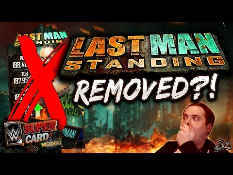 LAST MAN STANDING SUSPENDED!! MAJOR CHANGES TO EVENT! | WWE SuperCard S4