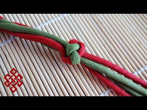 How to Make a Four Strand Footrope Knot / Four Strand Diamond Knot Tutorial