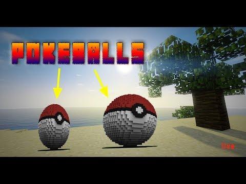 How to make Minecraft giant Poke'ball
