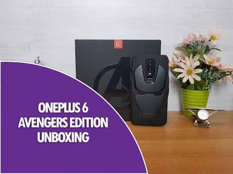 OnePlus 6 Avengers Limited Edition Unboxing (8GB RAM & 256GB Storage)