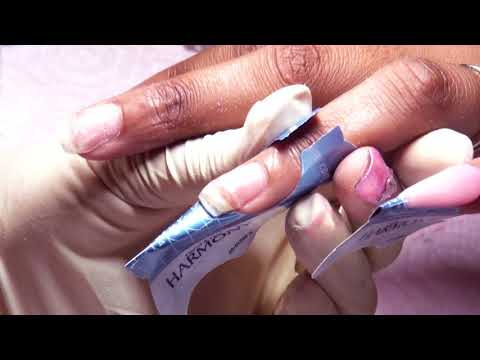 Spring Marble All Acrylic Nails Full Set