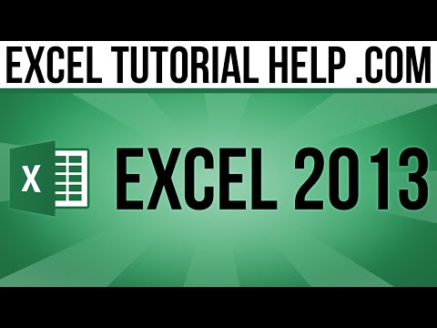 Excel 2013 Tutorial - Named Ranges
