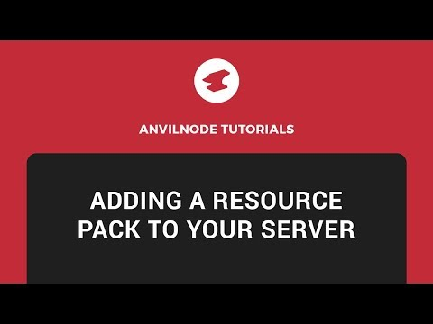 Anvilnode: How to add a resource pack to your server