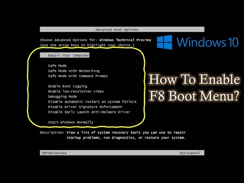 Enable F8 Boot Menu in Windows 10 / Windows 8.1 / 8 | The Teacher