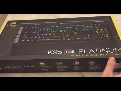 Corsair K95 RGB Platinum Unboxing