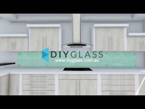 Glass Splashback easy to remove to change background
