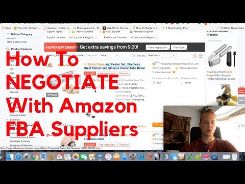 How To Negotiate With SUPPLIERS and Get The BEST PRICE For Your Amazon FBA Product