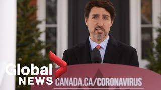 Coronavirus outbreak: Trudeau announces new measures for domestic air and train travel | LIVE
