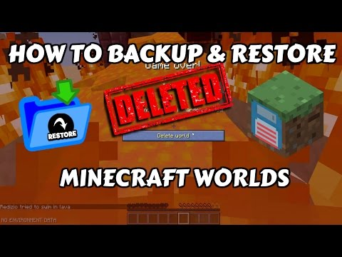 Minecraft Tutorial - How to save/backup & restore Minecraft world [EASY]