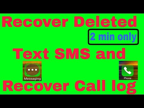 How to Recover Deleted messages and call log from Android phone [Hindi]